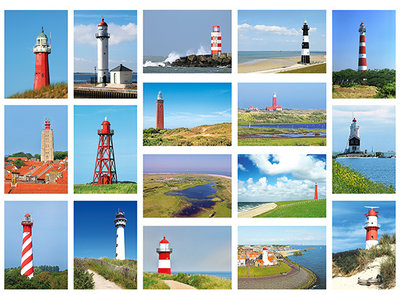 postcard set lighthouses