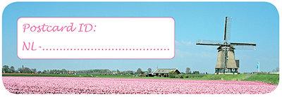 Postcard ID sticker NL (molen)