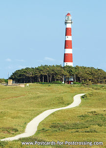 ansichtkaartvuurtoren Bornrif Ameland - lighthouse postcard  Ameland - Leuchtturm Postkarte  Ameland