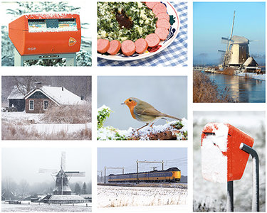 Postcardset winter Dutch