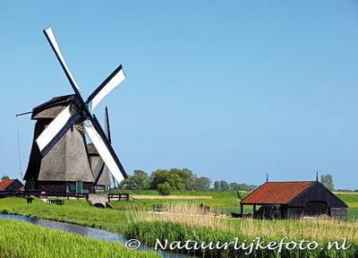ansichtkaart museum molen Schermerhorn, mill postcard, Mühle Postkarte