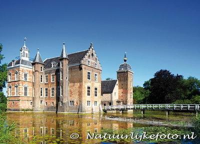 ansichtkaart kasteel Ruurlo in Vorden, postcardcastle Ruurlo, Postkarte Schloss Ruurlo