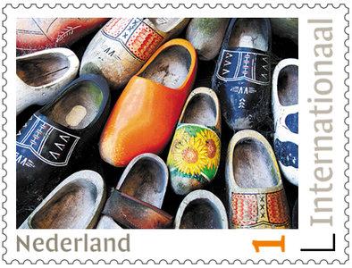 postzegels voor Postcrossing - klompen