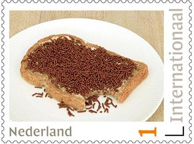 Broodje hagelslag - postzegels voor Postcrossing