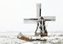 goedkope kerstkaarten kopen, ansichtkaart winter molen de Gans ,postcardmill in winter, Postkarte Mühle im Winte