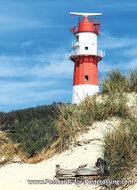 ansichtkaartvuurtoren Borkum, postcard lighthouse Borkum, postkarte leuchtturm Borkum