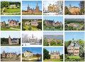 Kaartenset van kastelen - Castle postcard set - Postkarten SetSchlosser und Burgen